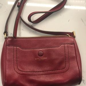 Marc by Marc Jacobs red leather crossbody purse